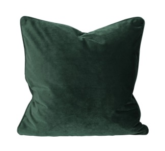 Grön sammet kuddfodral