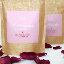 Flower garden salt scrub