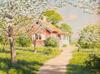 Stuga med blommande träd 1917, Bukowskis