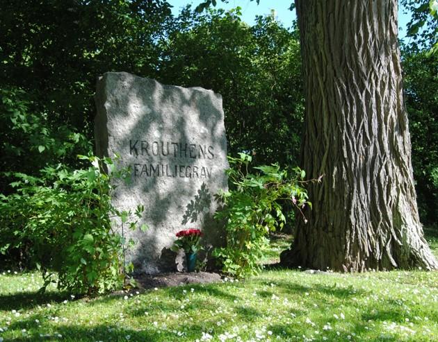 Johan Krouthéns familjegrav. Linköpings gamla kyrkogård