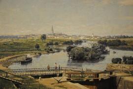 Utsikt över Linköping 1886, detalj, Linköpings kommun