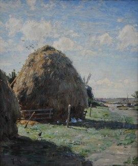 Halmstackar, Skagen 1884, Norrköpings konstmuseum