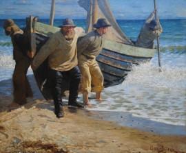 Målning från Skagen av vännen Oscar Björck, Skagens museum
