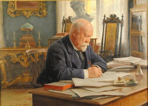 Porträtt av Anton Ridderstad 1918, ÖM