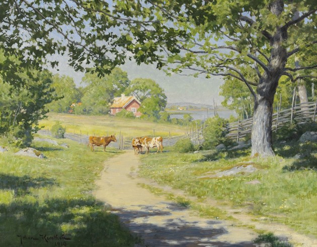 Landskap med kor 1910, Stockholms auktionsverk