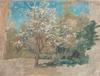 Blommande  fruktträd, skiss, Bukowskis 1888