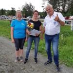 Prisutdelning i premiärupplagan av Semesterserieloppet, tillsammans med Hoting och Lycksele.