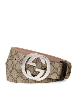 Gucci belt brown/silver