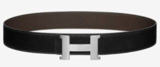 Hermes belt black/silver