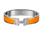 Hermes Bracelet - Orange/Silver