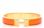 Hermes Bracelet - Orange/Gold