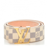 LV Belt White/Gold