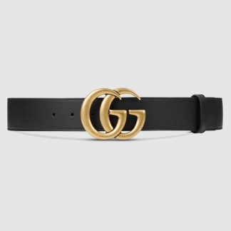 Gucci belt black/gold double G buckle