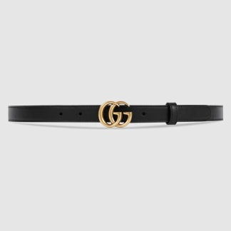 Gucci belt black/gold double G buckle - MINI