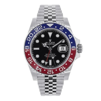 Rolex GMT-Master Pepsi Blue and Red Bezel Stainless Steel Jubilee Watch