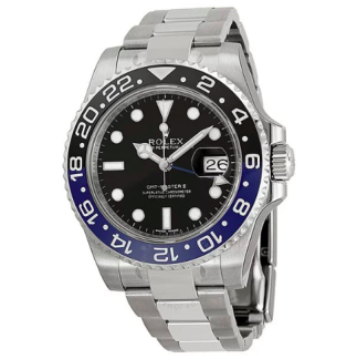 Rolex GMT Master II Black Dial Batman Bezel Men's Watch