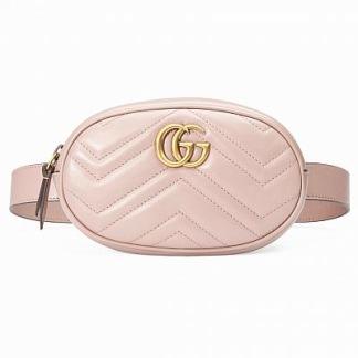 GG marmont matelasse belt bag - pink