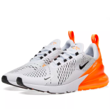 NIKE AIR MAX 270 WHITE/ORANGE