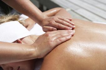 ryggmassage En Härlig Salong