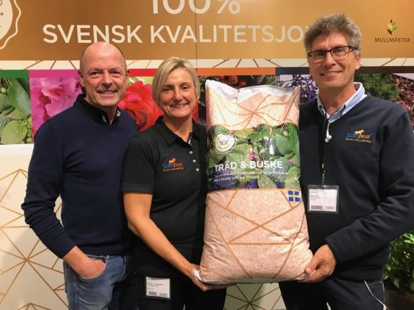 Anders Hjalmarsson, Annika Sundström och Mats Kron ScanPeat och Mullmäster.
