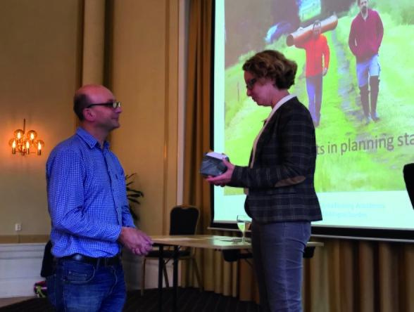 TFCs ordförande Stefan Östlund och Silke Kumar från Torfwerk Moorkultur Ramsloh