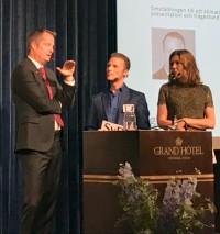Energiminister Anders Ygerman tillsammans med Peter Alestig och Sara L Bränström, SvD Näringsliv arrangör.