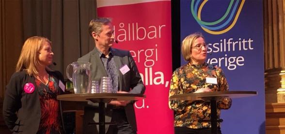 bildtext: Annika Viklund, vd Vattenfall eldistribution, Erik Brandsma, vd Jämtkraft och Kristina Säfsten, Vd Övik Energi