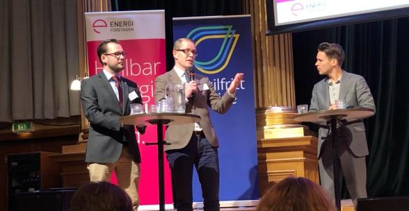 Mattias Bäckström Johansson SD, Lars Hjelmered M, Lorentz Tovatt MP