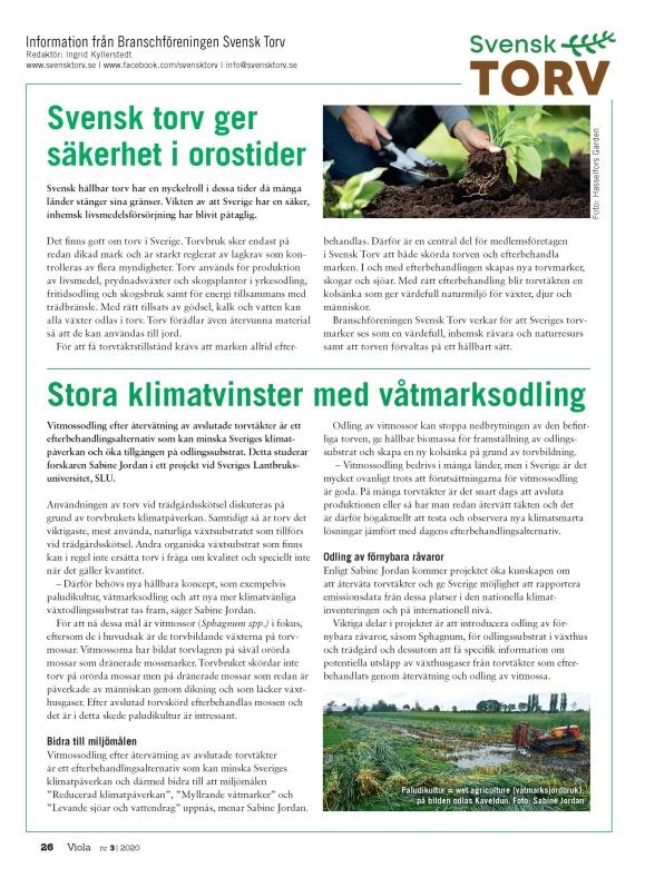 Svensk Torv ger säkerhet i orostider