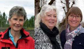 Sylvia Johansson, Rita Larsson och Pia Holmberg