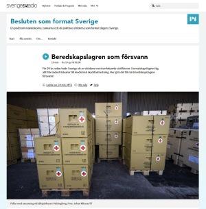 Pallar med utrustning vid tältsjukhuset i Helsingborg. Foto: Johan Nilsson/TT