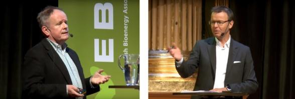 Kjell Andersson och Gustav Melin från Svebio presenterade sin färdplan på ett seminarium den 16 januari.