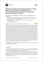 växthusgasemissioner från återvätning av avslutad torvtäkt