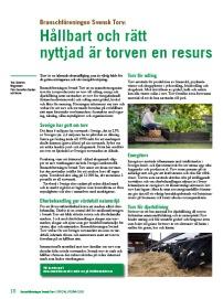 Svensk hållbar torv