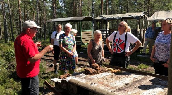 Ett mc-buret gäng från Gunnilse och Olofstorp utanför Göteborg besökte Ryttaren. De gör en gemensam mc-resa varje år.