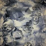 Blåmönstrad viskostrikå