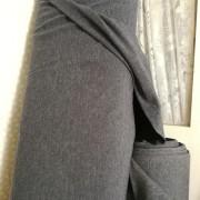 Svante jeansfärgad bomullstrikå REA