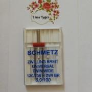 Schmetz Tvillingnål 6 mm