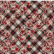 Diagonalruta med blommor