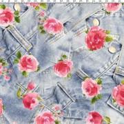 Jeans och blommor
