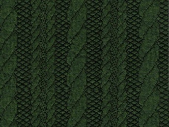 Kabelstickad Jaquard Winter Green