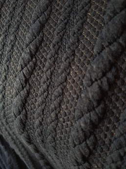 Kabelstickad Jaquard Dark blue