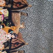Metervara Snövit leopard