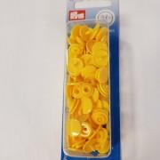 Colour snaps plasttryckknappar gul