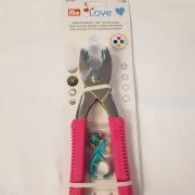Prymtång Rosa Love inkl insatser till colour snaps plasttryckknappar
