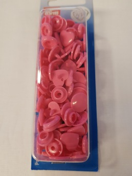 Colour snaps Plasttryckknappar Tuggummi Hjärtan