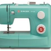 Singer Simple 3223M Mintgrön RETRO, inkl Luna Bandkantare, tvillingnål och extra trådpinne