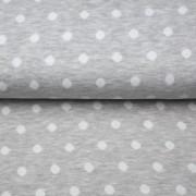 Dubbelvävd med prickar,grå