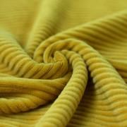 Bredspårig manchestervelour senap