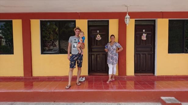 Vårat enkla men mysiga hotell i Valladolid